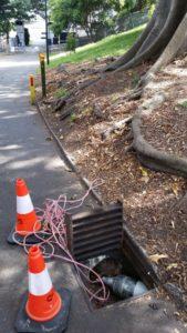 Pipe relining job in Royal Botanical Gardens, Sydney