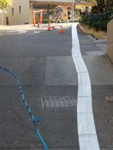 Preparing a liner for a 225mm stormwater job in Waverton