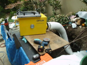 Relining of a 150mm sewer pipe at home