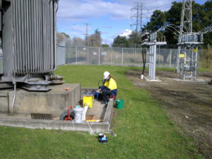 Relining at an electrical substation in Sydney
