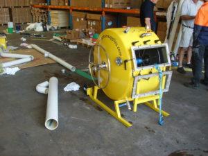 Relining equipment demonstration at Cromer