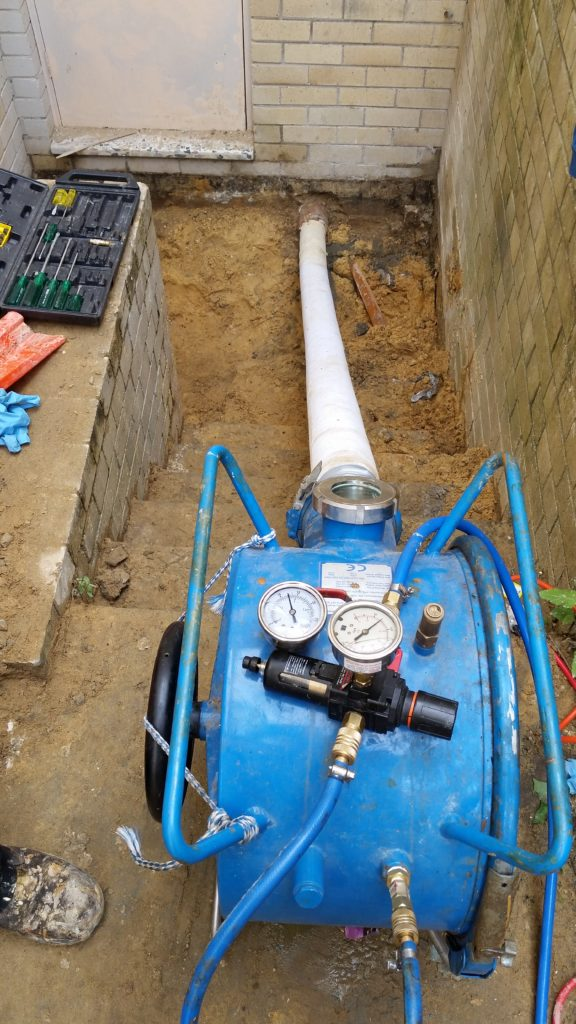 Relining stormwater pipe in a post office in Rose Bay